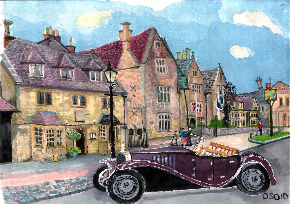 Broadway High Street the Lygon Arms by doatley