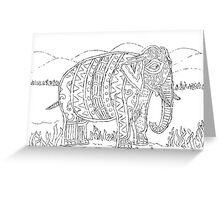 Tribal Elephant with background Greeting Card