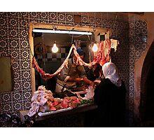 The Tripe Seller Marrakesh. Photographic Print