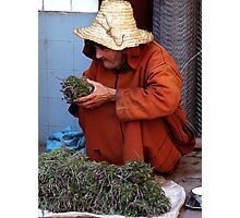 Herb Seller Marrakesh. Photographic Print