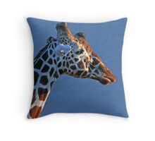 Samburu Giraffe Throw Pillow