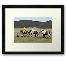 Pack String Framed Print