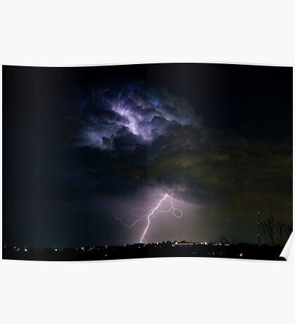 Lightning Thunderhead Storm Cell 08-15-2010 Poster