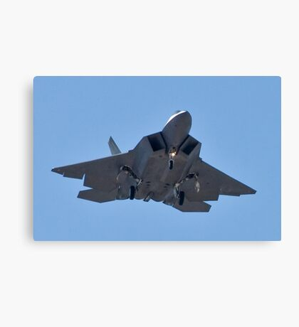 Eye to eye with the F-22 Raptor Canvas Print