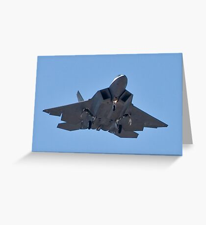 Eye to eye with the F-22 Raptor Greeting Card