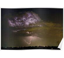 Lightning storm with a hook. Poster