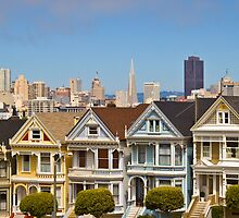 The Painted Ladies in San Francisco, CA by Barb White