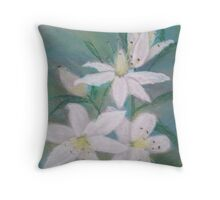 A Lesson in Lilies Throw Pillow