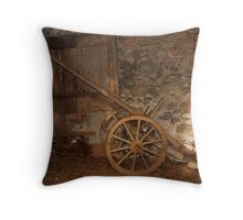 Old Agricultural Cart  Throw Pillow