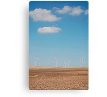 Wind Turbines and Blue Skies  Canvas Print