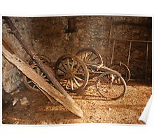 Old Wooden Agricultural Cart  Poster