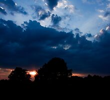 Sunset in Black and Blue by Otto Danby II