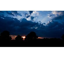 Sunset in Black and Blue Photographic Print