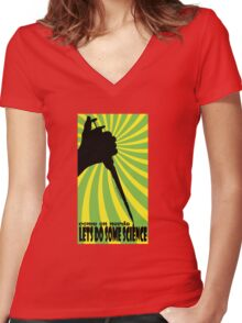 LETS DO SOME SCIENCE Women's Fitted V-Neck T-Shirt