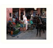 Fresh Vegetables Marrakesh Style.  Art Print