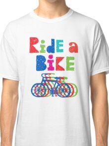 Ride a Bike sketchy - white T Classic T-Shirt