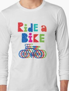 Ride a Bike sketchy - white T T-Shirt