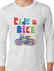 Ride a Bike sketchy - white T Long Sleeve T-Shirt