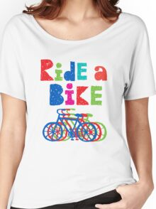 Ride a Bike sketchy - white T Women's Relaxed Fit T-Shirt