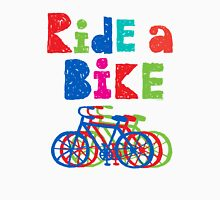 Ride a Bike sketchy - white T Unisex T-Shirt