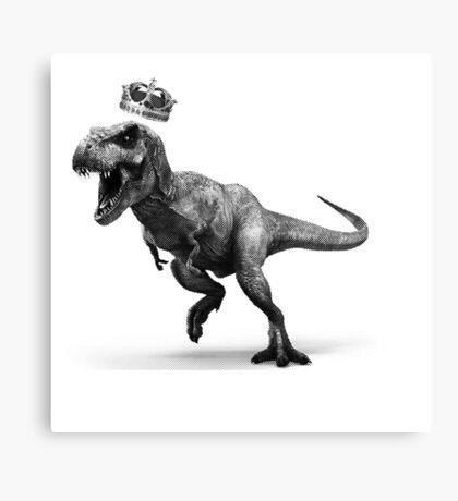 T-Rex Crown Canvas Print