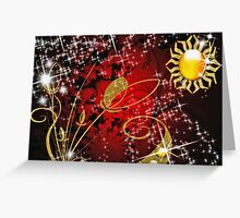 Aztec Sun Greeting Card