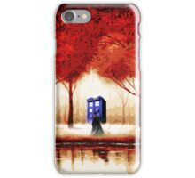 Blue Phone Box Cloud iPhone Case/Skin