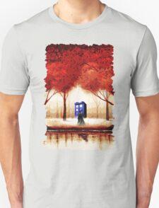 Blue Phone Box Cloud Unisex T-Shirt