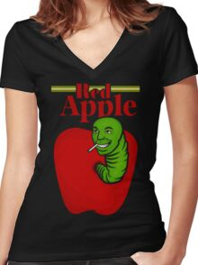 RED APPLE Women's Fitted V-Neck T-Shirt