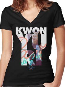 Girls' Generation (SNSD) Yuri 'Party' Women's Fitted V-Neck T-Shirt