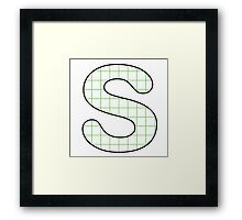 Letter Series - s (grid) Framed Print