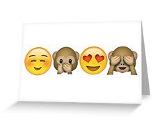 Happy Emojis Greeting Card