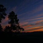 Sunset outside the Batcave by elasita