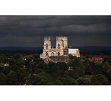Clearing storm, York Minster Photographic Print
