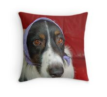 Odin Wears Lavender  Throw Pillow