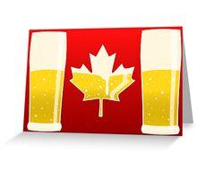 Canada Flag Beer Greeting Card