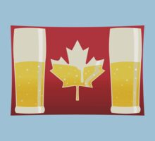 Canada Flag Beer One Piece - Short Sleeve