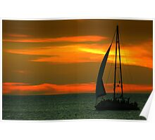 Sunset sailin' Poster