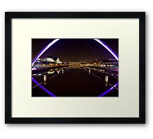 Newcastle Quayside from the Millenium Bridge Framed Print