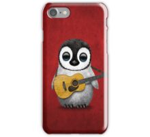 Musical Baby Penguin Playing Guitar Red iPhone Case/Skin