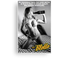 Blotto Beer Poster - Captain RibMan Canvas Print