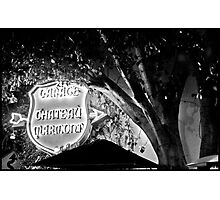 Chateau Garage Sign (2) Photographic Print