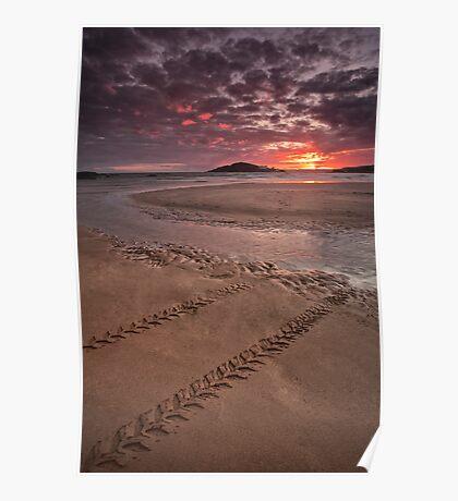 Sunset over Burgh Island Poster