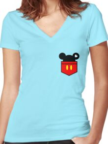 [Men] Mickey's Love Women's Fitted V-Neck T-Shirt