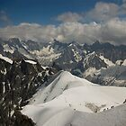 View from Aiguille du Midi by Béla Török