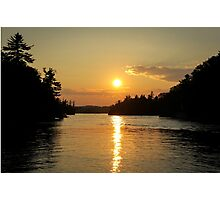 1000 Islands Sunset Photographic Print