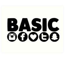 Basic Social Media Art Print