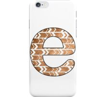 Letter Series - e (arrows) iPhone Case/Skin