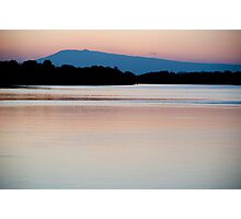 Mont Ventoux and the Rhone, dawn Photographic Print