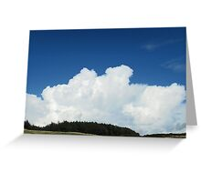 Puffy Fluffy Clouds Greeting Card